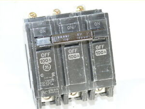 General Electric Ge Thqb32100 3p 100a 240v Circuit Breaker New 1 year Warranty