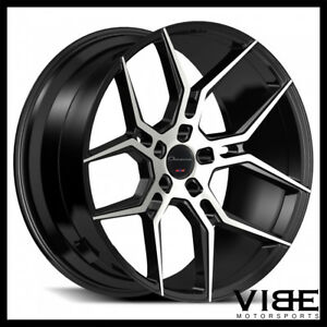 22 Giovanna Haleb Machined Black Concave Wheels Rims Fits Chevrolet Camaro Ss