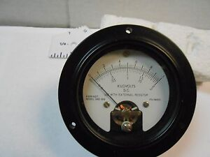 365 810 Meter Dc Kilovolts Fs 1madc Used With External Resistor Nos 3 1 2