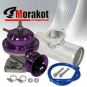 Universal Purple Turbo Type Rs Bov Blow Off Valve 2 5 Inch 52mm Aluminum Pipe