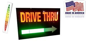 Drive Thru Sign Led Light Box Sign 16x24x2 Inch Arrow Led Flash Light