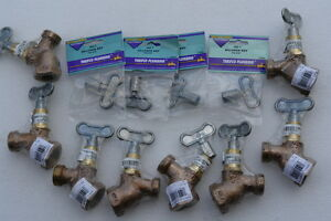 Thrifco Plumbing 353lkbcld Lots Of 8 with 282 t Sillcock Key lots Of 4