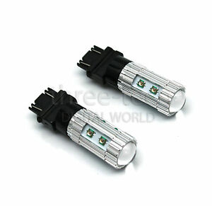 2x Amber Orange 50w Cree 3157 Led Light Bulbs For Turn Signal Indicator Lights