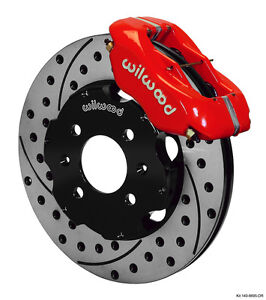 Wilwood Integra civic W fac 240mm Rtr Fdl Frt Kit 11 00 Drilled Red 140 8695 dr