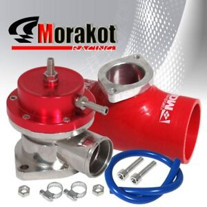 New Adjustment Type S Bov Blow Off Valve Red Jdm 3 76mm Coupler Adapter Pipe