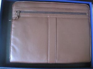 Royce Leather Deluxe Executive Zip up Writing Portfolio Presentation Folder nib