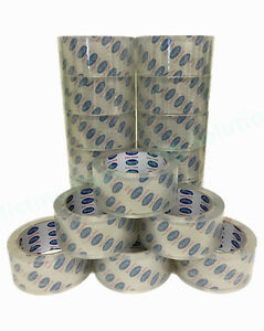 36 Rolls 55yd 2 6mil Thick Super Clear Top Heavy Duty Box Packing Storage Tape