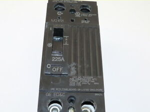 General Electric Tqd22225wl 2p 225a 240v Circuit Breaker New 1 year Warranty