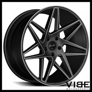 20 Gianelle Parma Black Concave Wheels Rims Fits Toyota Camry