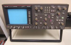 Philips Oscilloscope Pm 3320 250 Ms s Powers On Screen Turns On