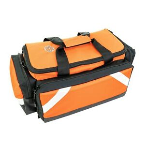 Line2design Elite Trauma Bag Ems Emt Paramedic With Reflective Trim Orange