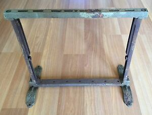 Old Vtg Antique Cast Iron Butcher Wrapping Packing Paper Roll Dispenser
