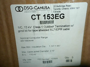 Dsg Canusa Ct 153eg 15kv Class 1 Outdoor Termination Kit
