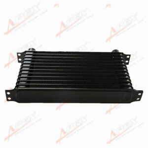 Universal 12 Row 10an Engine Transmission Oil Cooler Trust Style Black Us