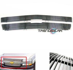 2001 2002 Chevy Silverado 2500 3500 Hd Pickup Front Upper Billet Grille Grill