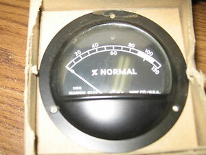8004909 Special Meter 0 120 Dc 50 Milli Volts New Old Stock