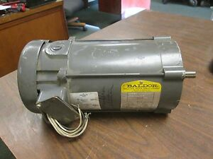 Baldor Dc Motor Cd3450 0 5hp 1750rpm 56c Frame Arm 90v 5 2a Field 100 50v 0 5 1a