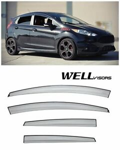 For 11 19 Ford Fiesta Hatchback Wellvisors Aerodyn Jdm Side Window Rain Visors