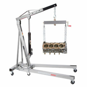 1 Ton Engine Motor Hoist Cherry Picker Shop Crane Lift Foldable