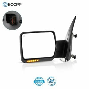 For 07 14 Ford F150 Left Power Heated Led Signal Light Towing Side Mirror Driver