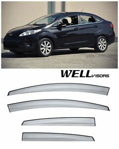 For 11 up Ford Fiesta Sedan Wellvisors Side Window Visors Aerodyn Series