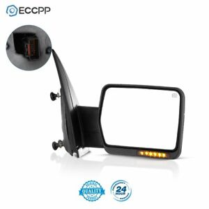 Rh For 07 14 Ford F150 Power Heated Led Signal Passenger Towing Side View Mirror
