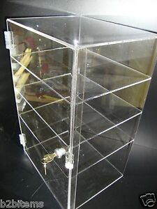 Acrylic Countertop Display 12 X 7 X 19 Locking Security Showcase Cupcake Stand