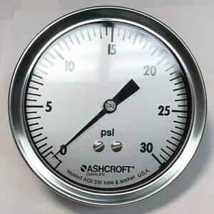 Ashcroft Q 8995 30 Psi Pressure Gauge new