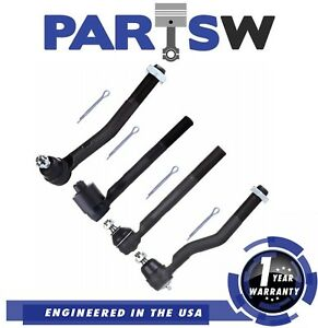4 Pc Tie Rod End Jeep Grand Cherokee 1999 2000 2001 2002 2003 2004 1 Yr Warranty