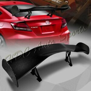 Type 1 3d Universal 57 Real Carbon Fiber Adjustable Rear Trunk Gt Spoiler Wing