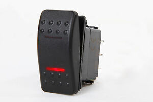 Marine Boat Rv Rocker Switch On off on Dpdt 7 Pin 2 Red Led Trailer Motorcycle