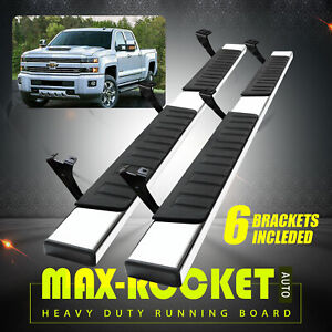 For 2007 2021 Toyota Tundra Double Cab 6 Nerf Bar Running Board Side Step S S H