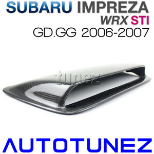 Carbon Fiber Hood Scoop Air Intake Vent Bonnet For Subaru Wrx Gd Gg 2006 2007 Us