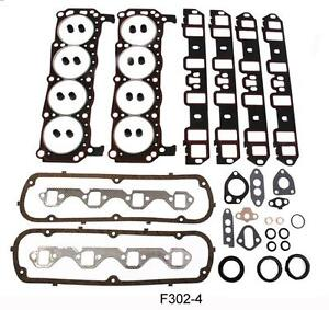 Complete Gasket And Seal Set Ford 260 289 302 With 2 Piece Rear Seal