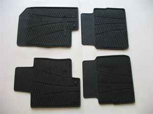 11 12 13 14 Hyundai Sonata Black Rubber All Weather Season Winter Floor Mats 2