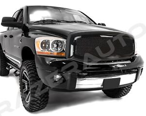 Front Hood Black Mesh Grille Replacement Shell Fpr 06 09 Dodge Ram Truck 2500 35