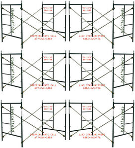 Six Set Of New 5 X 5 X 7 Masonry Scaffolding Frame Set Cbmscaffoldcom