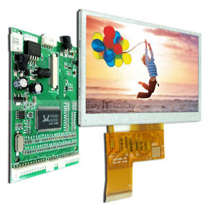 4 3 tft Color Lcd Display Module w vga av Video Driving Board option Touch Panel