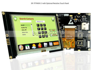 4 3 Inch Tft Lcd Module Display i2c serial Spi W resistive Touch Panel tutorial