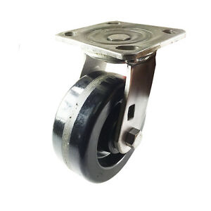 5 X 2 Heavy Duty Stainless Steel phenolic Caster Swivel