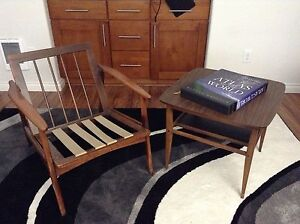Two Tier Mid Century Modern Lane Teak Side Table