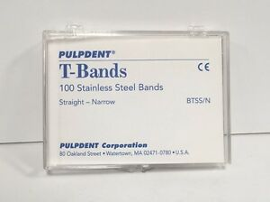 Pulpdent T Bands Btss n 200 Pk Stainless Steel Dental Bands Straight Narrow Fda