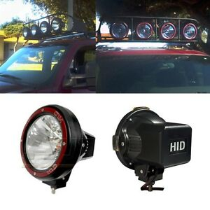 4x Universal 7 Inch Built in Xenon Hid 4x4 Off Road Rally Driving Fog Light Lamp