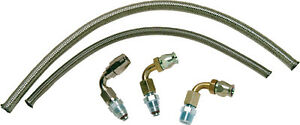 Borgeson 925203 Power Steering Hose Kit 2 Pc Stainless Gm Pump To Gm Box