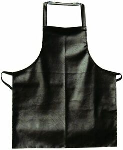 12pcs Vinyl Bib Apron 26 x41 Extra Long Hd Brown Leatherette For Restaurant