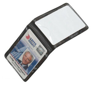10 Pack Lot Magnetic Vertical 2 card Id Badge Holders For Shirt Chest Pocket