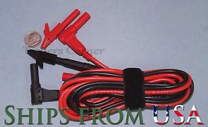 Test Lead probe Cable Approx 7 Feet With Small Alligator Clips For Fluke