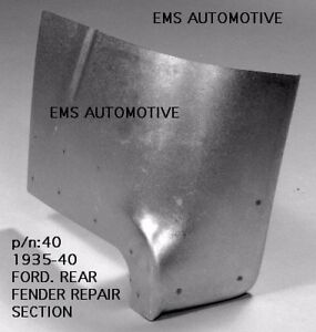 Ford Car Rear Fender Repair Section Patch Panel Left 1935 1940 40l Ems