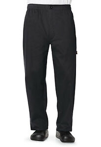 Black Dickies Chef Mens Traditional Baggy With Zipper Fly Pants Dc14 Blk