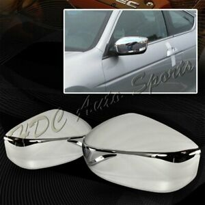 For 2008 2012 Honda Accord Chrome Abs Plastic Side Mirror Cover Cap Left Right